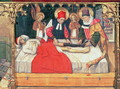 SS Cosmas and Damian graft the leg of a Black person onto the stump of deacon Justinian - Jaume Huguet
