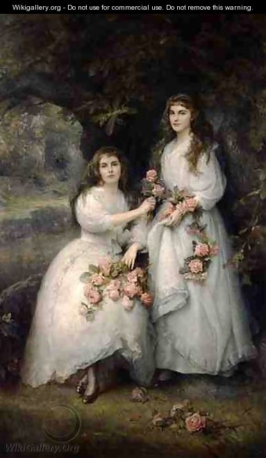 Portrait of the Daughters of the Duke of Manchester - Edward Hughes
