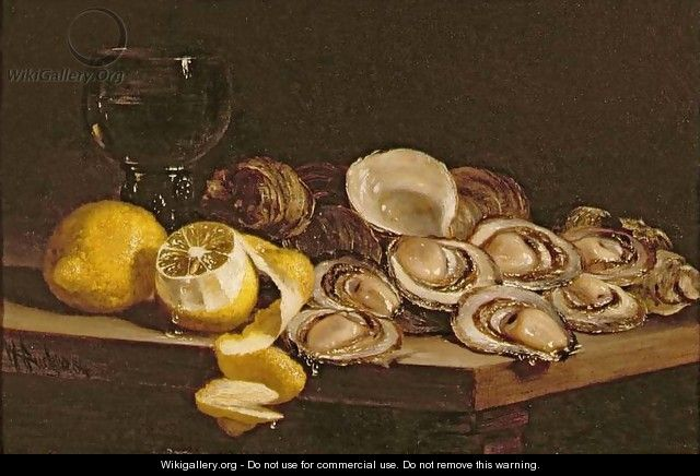 Study of Oysters - William Hughes