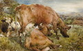 Three Cows in a Field - William Huggins