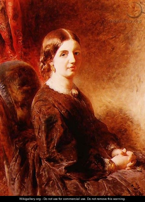 Portrait of a woman seated said to be Mrs Huggins - William Huggins