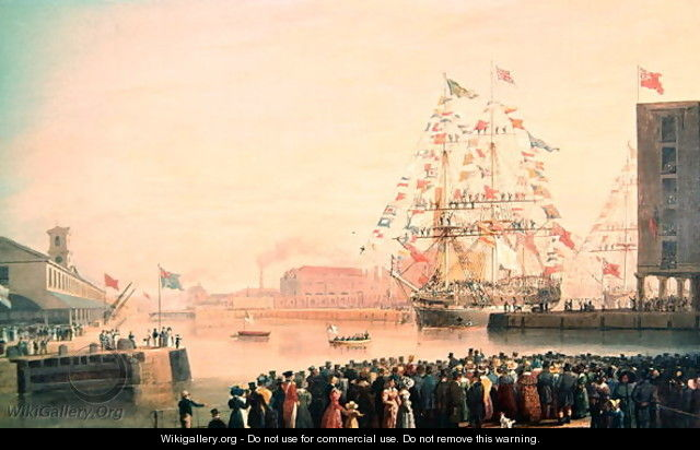 The Opening of St Katherines Dock - William John Huggins