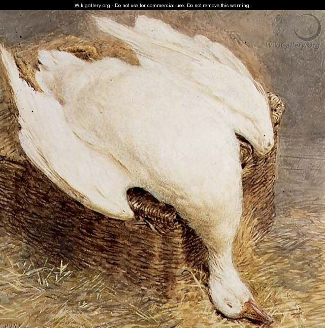 Still Life of a Dead Goose with a Basket - William Henry Hunt
