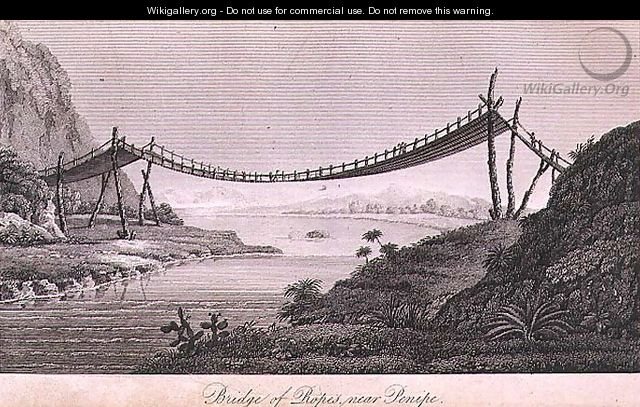 Bridge of Ropes near Penipe - (after) Humboldt, Friedrich Alexander, Baron von