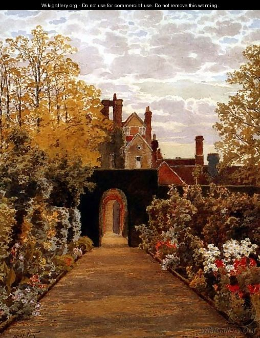 October Morning in the Gardens Loseley Surrey - Thomas H. Hunn