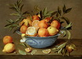 Still Life with Oranges and Lemons in a Wan Li Porcelain Dish - Jacob van Hulsdonck