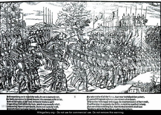 The English Army Marching with Sir Henry Sidney 1529-86 in 1566 - Friedrich van Hulsen