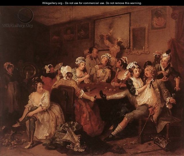 The Orgy c. 1735 - William Hogarth