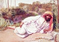 Arab Resting by a Stream - William Holman Hunt