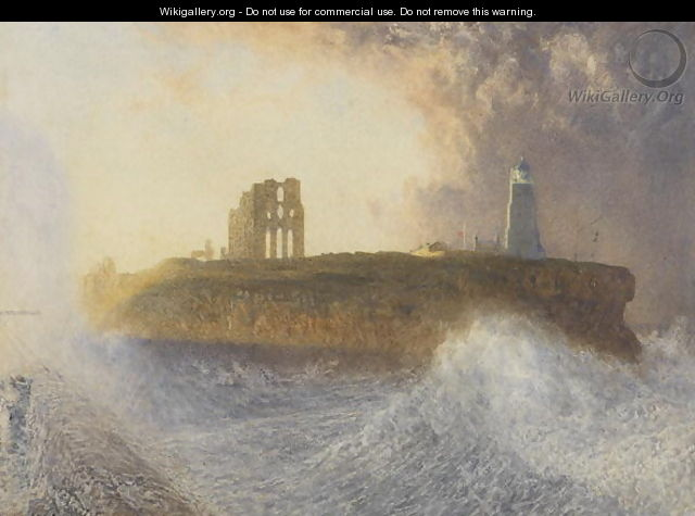 Tynemouth Pier North East Wind - Alfred William Hunt