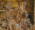 A Gardener in a Potting Shed with Pineapples and Various Vegetables - Alfred William Hunt