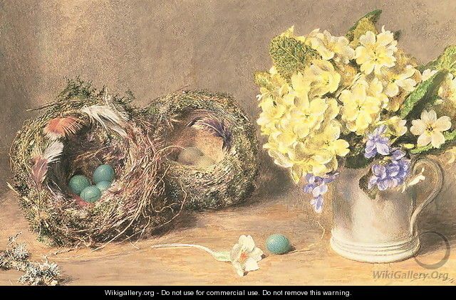 Spring Flowers and Birds Nests - William Henry Hunt