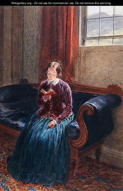 A Lady Reading called Mrs William Hunt - William Henry Hunt