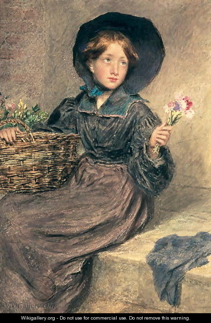 The Flower Girl - William Henry Hunt