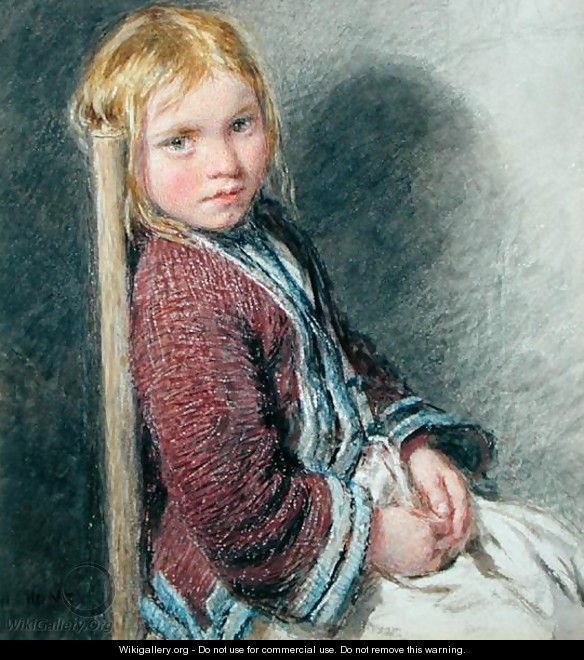 The Shy Sitter - William Henry Hunt