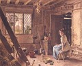 The Maid and the Magpie A Cottage Interior at Shillington Bedfordshire - William Henry Hunt