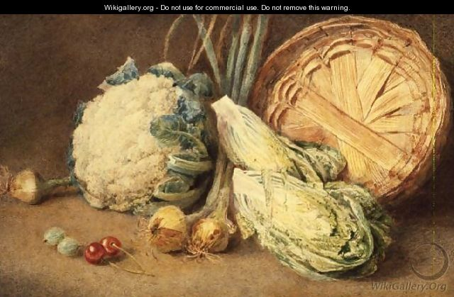 A Still Life of Vegetables - William Henry Hunt