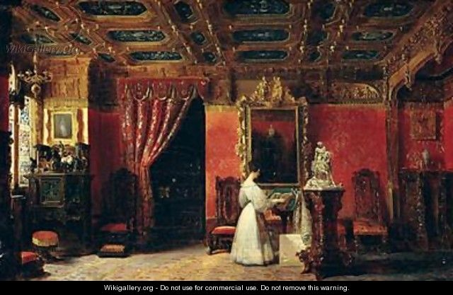 Princess Marie dOrleans 1813-39 in her Gothic Studio in the Palais des Tuileries - Prosper Lafaye or Lafait