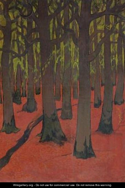 The Forest with Red Earth - Georges Lacombe