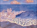 Blue seascape Wave Effect - Georges Lacombe