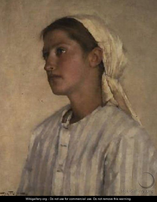 Portrait of a Girl - Henry Herbert La Thangue