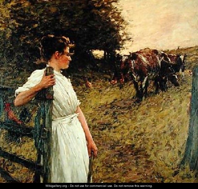 The Farmers Daughter - Henry Herbert La Thangue