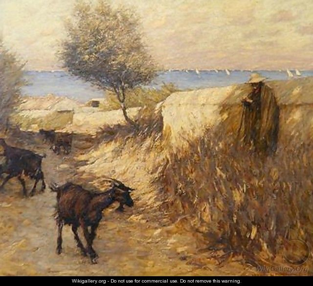 Provencal Lane Martigues - Henry Herbert La Thangue