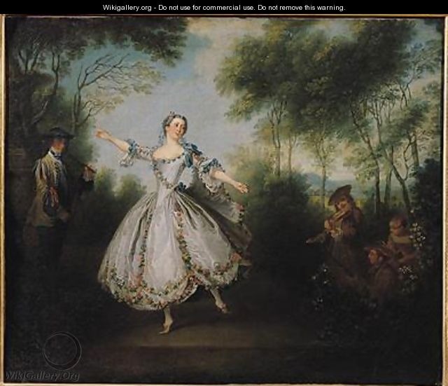 Marie Anne Cuppi 1710-70 known as La Camargo dancing - Nicolas Lancret