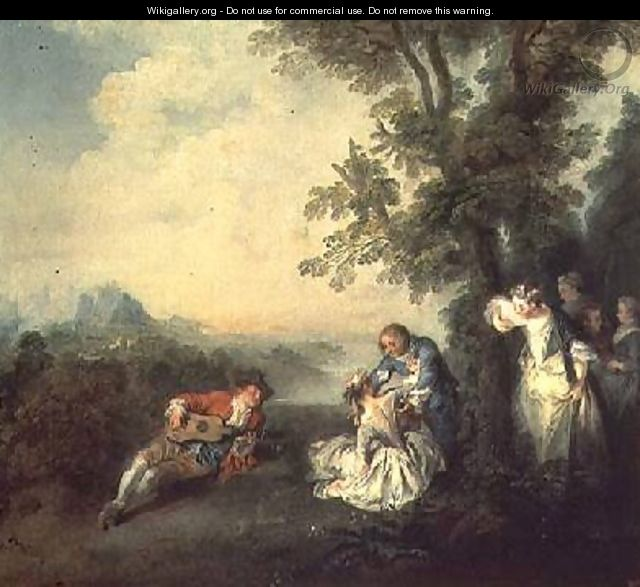 Merrymakers on the Edge of a Forest - Nicolas Lancret