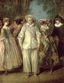 The Actors of the Commedia dellArte - Nicolas Lancret