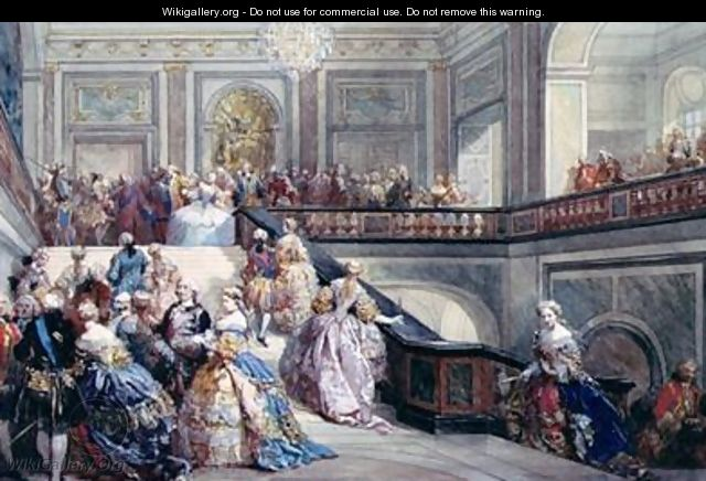 Fete at the Chateau de Versailles on the occasion of the Marriage of the Dauphin in 1745 - Eugene Louis Lami