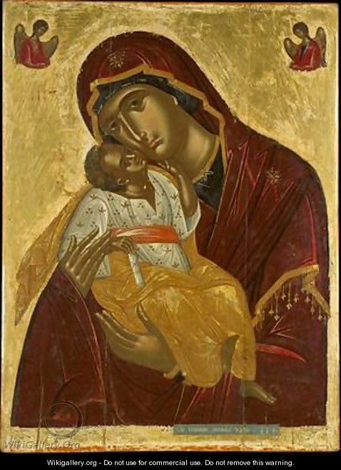 Icon of the Virgin of Tenderness - Emmanuel Lambardos