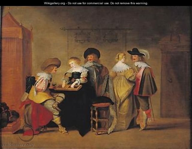 Backgammon Players 2 - Christoffel Jacobsz van der Lamen