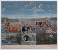 Three panels depicting the Battle of Blenheim - Louis Laguerre