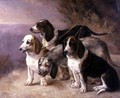 French Hounds in a Landscape - Louise Lalande
