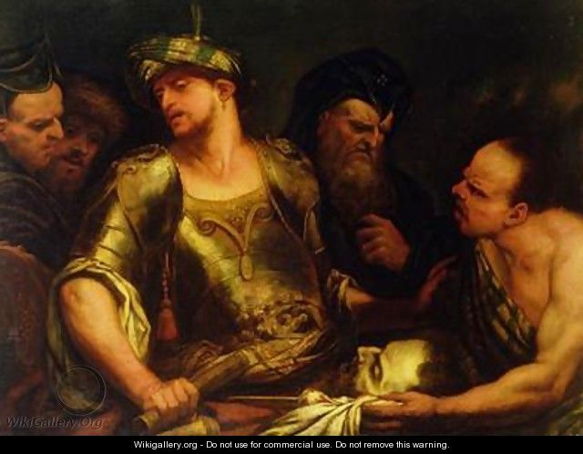 The Executioner Presents the Head of St John the Baptist to King Herod - Giambattista Langetti