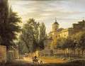 View of the Church of Ville dAvray - Jean Baptiste Gabriel Langlace