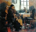 In the Firelight - Walter Langley