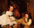 Two Children and a Pony - (after) Landseer, Sir Edwin