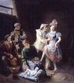Travelling players resting behind the scenes - Jan Baptiste de Landtsheer