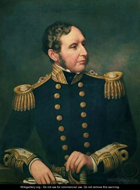 Vice Admiral Robert Fitzroy 1805-65 Admiral Fitzroy led the expedition to South America 1834-36 with Charles Darwin - Samuel Lane