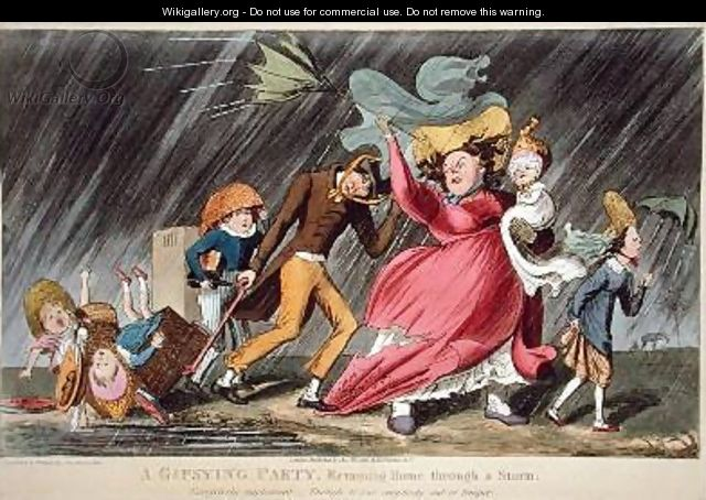 A Gipsying Party Returning Home Through a Storm - Theodore Lane