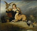 Richard Cavendish with Spot - Sir Edwin Henry Landseer