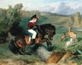 The First Leap Lord Alexander Russell on his pony Emerald - Sir Edwin Henry Landseer