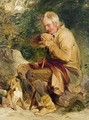 An old man and his dog seated by a road side - Sir Edwin Henry Landseer