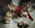 Alpine Mastiffs Reanimating a Distressed Traveller - Sir Edwin Henry Landseer