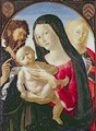 Madonna and Child with St John the Baptist and St Mary Magdalene - Neroccio di (Neroccio da Siena) Landi