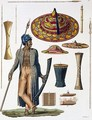 Warrior from Island of Guebe with items of Native Apparel - Landini
