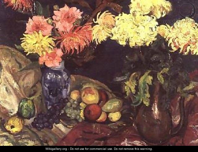 Still Life with Chrysanthemums - Gertrud Landsberger-Sachs