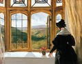 Duchess of Abercorn looking out of a window - Sir Edwin Henry Landseer